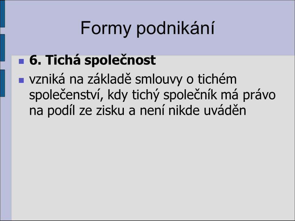 Formy podnikání 6.