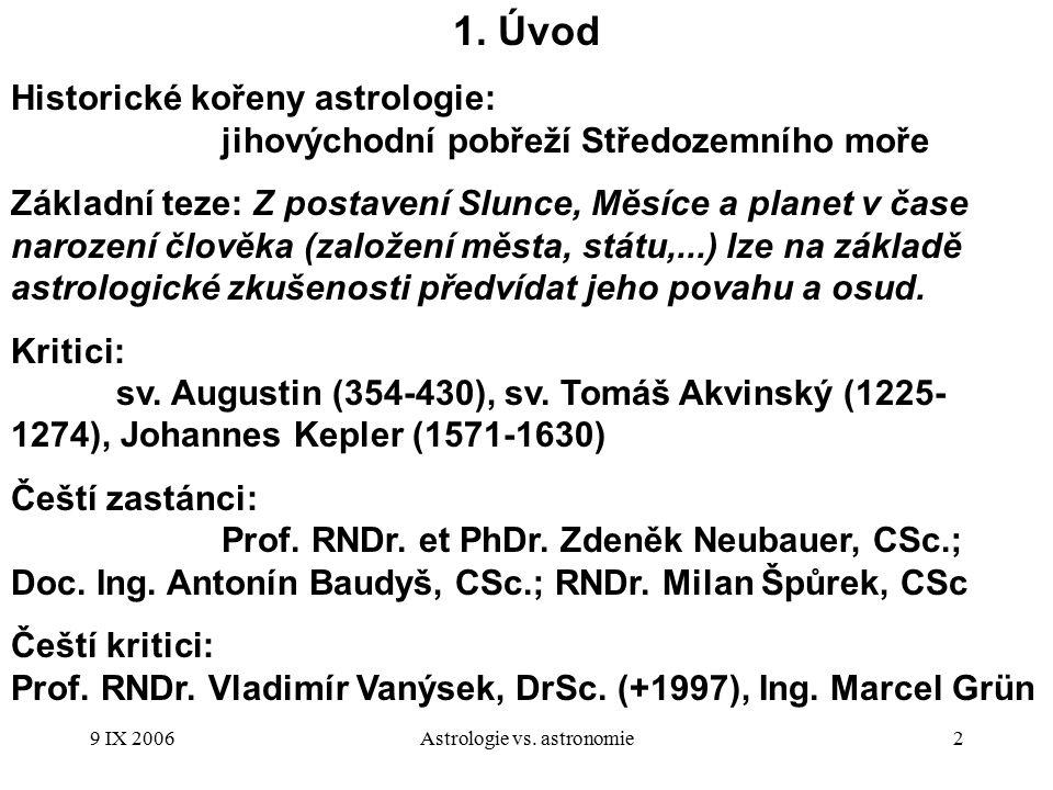 9 IX 2006Astrologie vs.astronomie3 2.