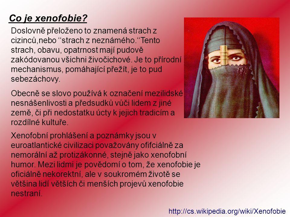 Co je xenofobie.