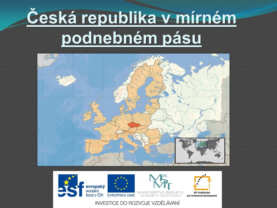 Česká republika v mírném podnebném pásu
