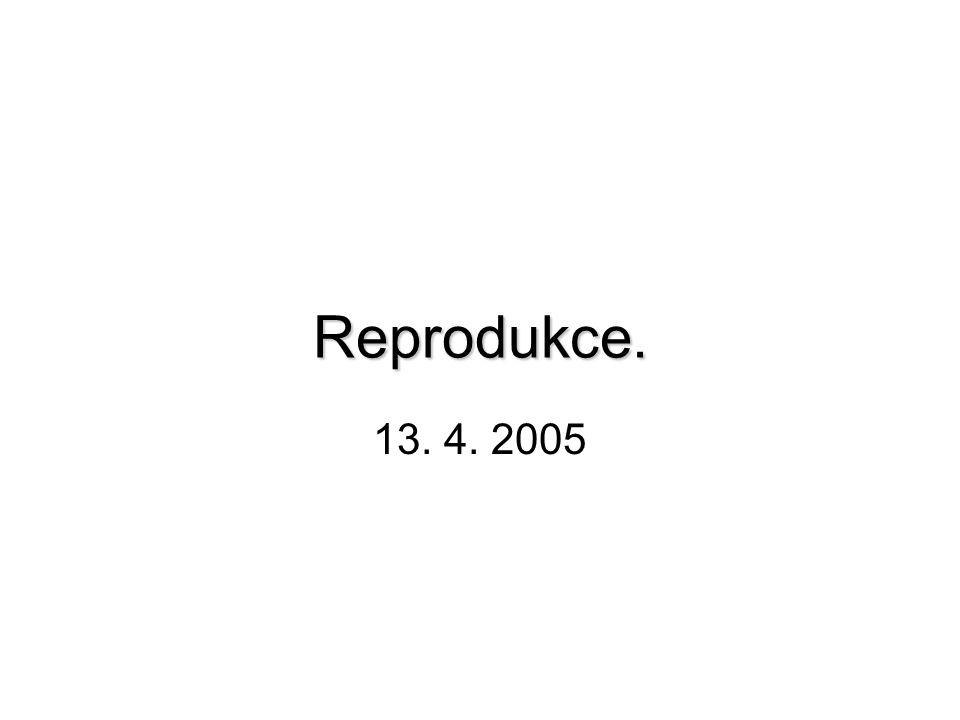 Reprodukce. Reprodukce. 13. 4. 2005