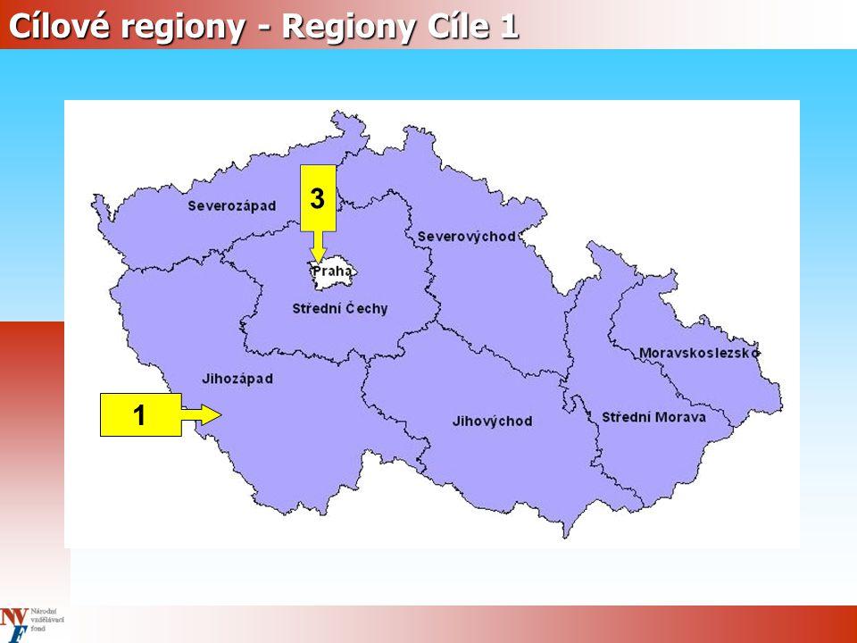 Cílové regiony - Regiony Cíle 1 3 1