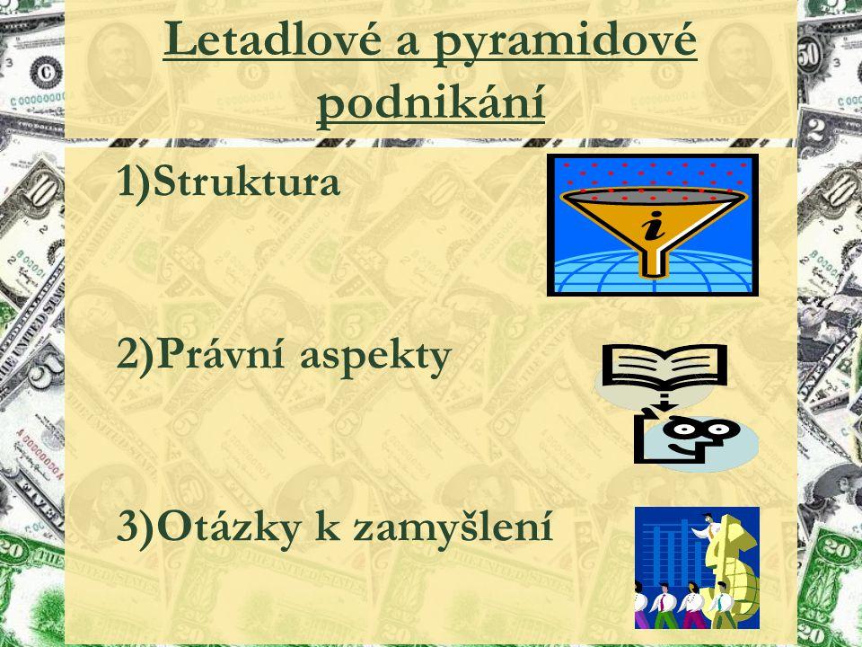 Letadlové a pyramidové podnikání 1)Struktura 2)Právní aspekty 3)Otázky k zamyšlení