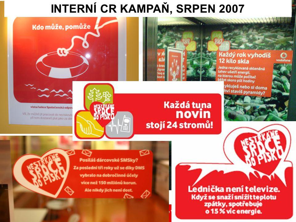 Společenská odpovědnost ve Vodafonu Přemysl Filip 5 INTERNÍ CR KAMPAŇ, SRPEN 2007