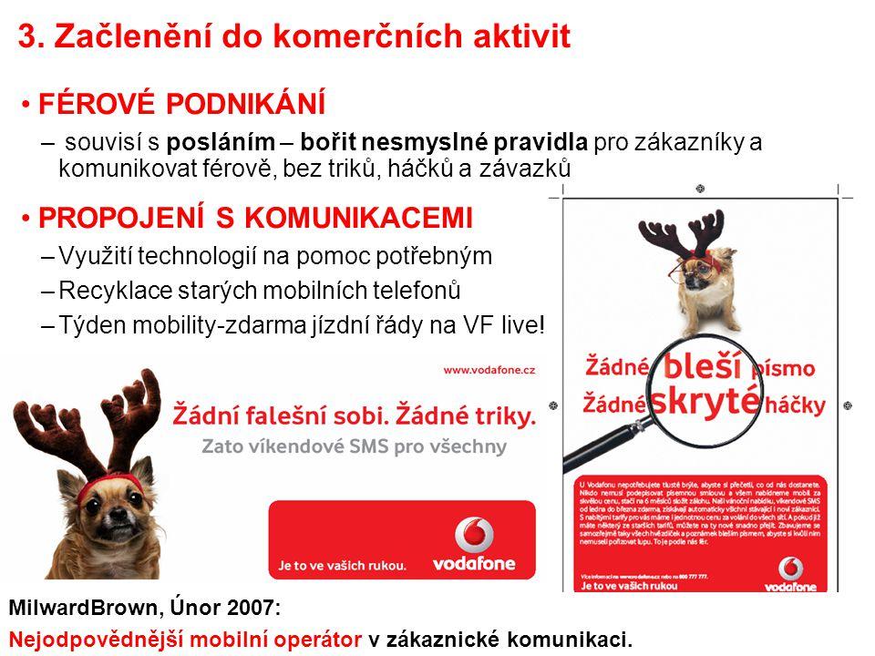 Společenská odpovědnost ve Vodafonu Přemysl Filip 7 3. Začlenění do komerčních aktivit FÉROVÉ PODNIKÁNÍ – souvisí s posláním – bořit nesmyslné pravidl