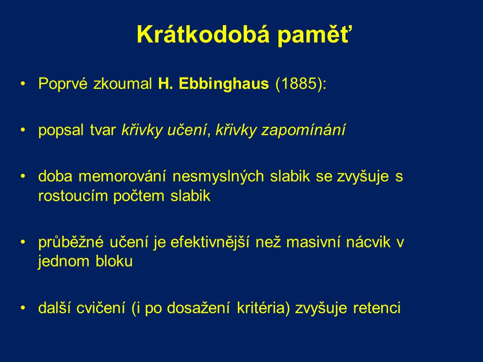 Subsystémy dlouhodobé paměti Terry Winograd (1975) a L.