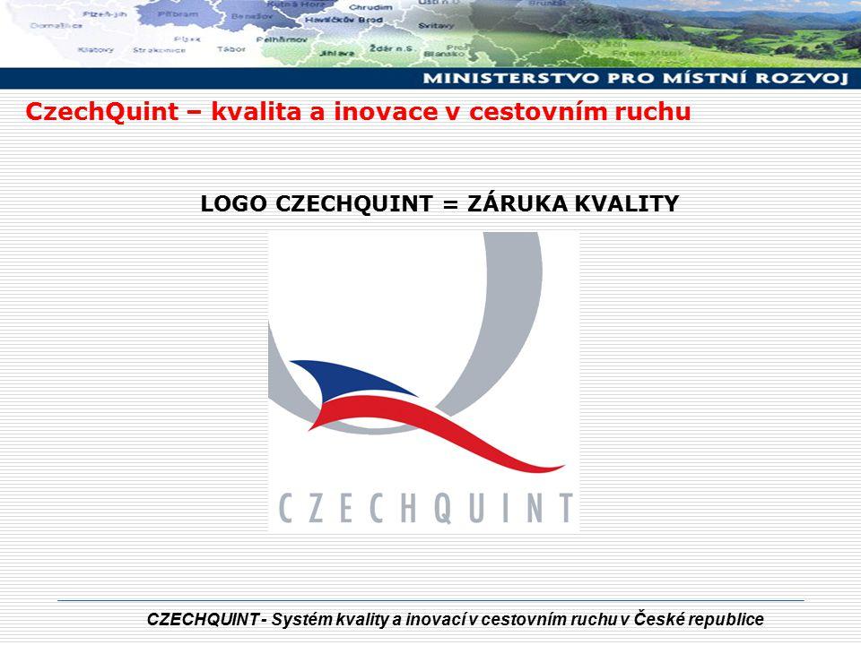 CZECHQUINT - Systém kvality a inovací v cestovním ruchu v České republice LOGO CZECHQUINT = ZÁRUKA KVALITY CzechQuint – kvalita a inovace v cestovním