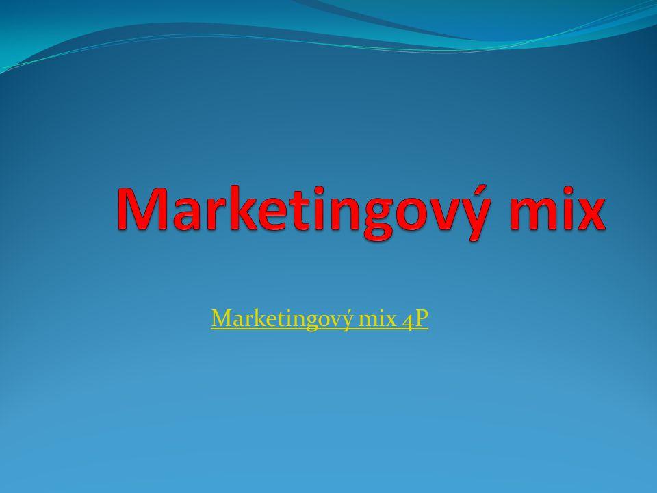 Definice Marketingový mix (4P)je soubor taktických marketingových nástrojů - výrobkové, cenové, distribuční a komunikační politiky, které firmě umožňují upravit nabídku podle přání zákazníků na cílovém trhu.