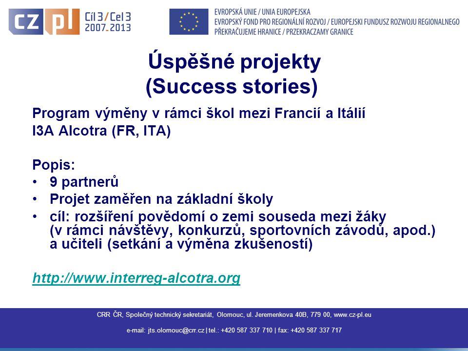 CRR ČR, Společný technický sekretariát, Olomouc, ul.