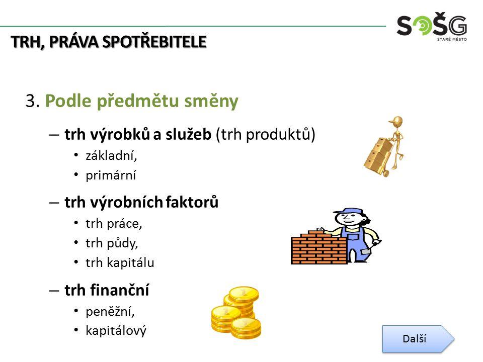 TRH, PRÁVA SPOTŘEBITELE 3.