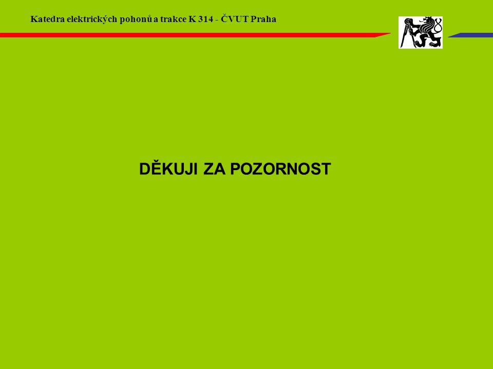 DĚKUJI ZA POZORNOST Katedra elektrických pohonů a trakce K 314 - ČVUT Praha