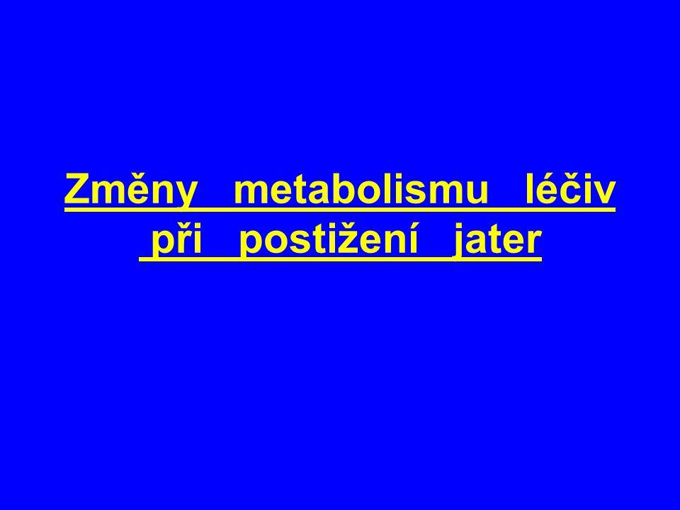 Změny metabolismu léčiv při postižení jater