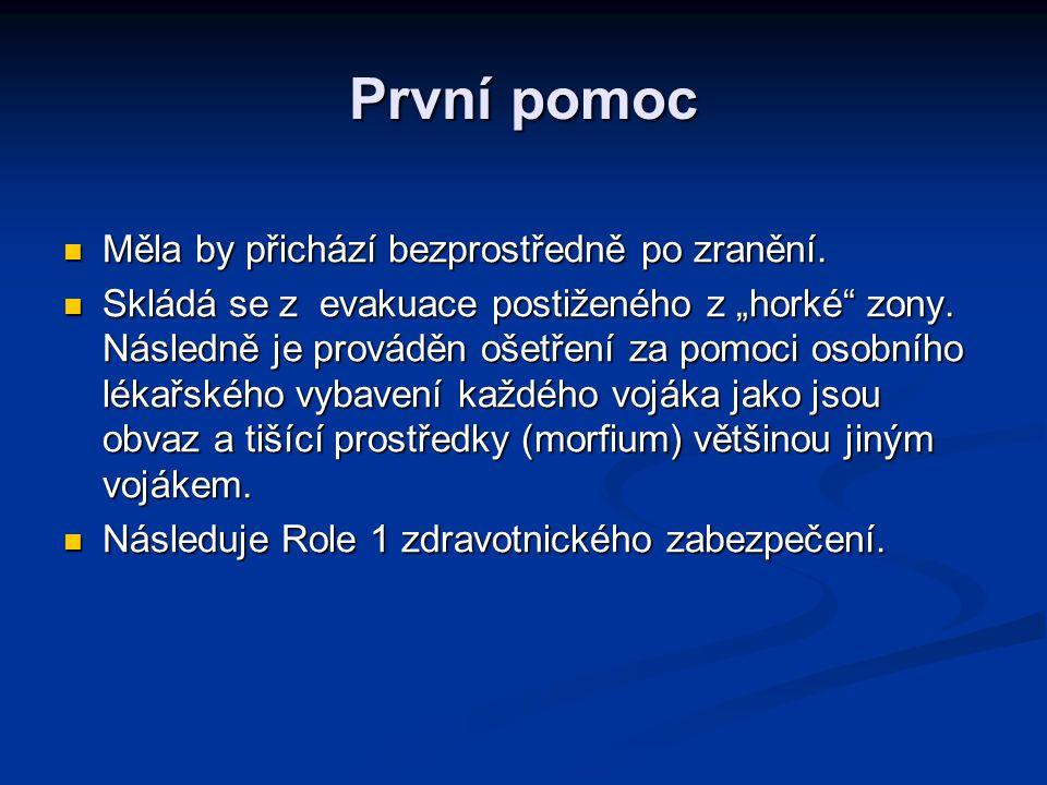 Role 1 Lékařský odsun na Role 1.Lékařský odsun na Role 1.