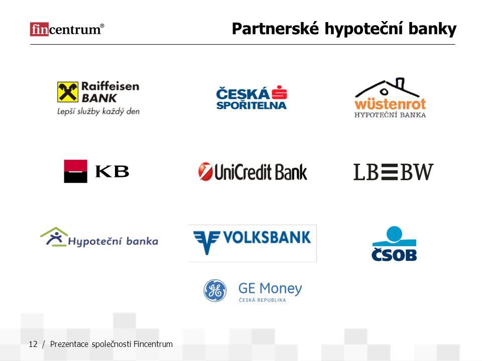 12 / Prezentace společnosti Fincentrum Partnerské hypoteční banky