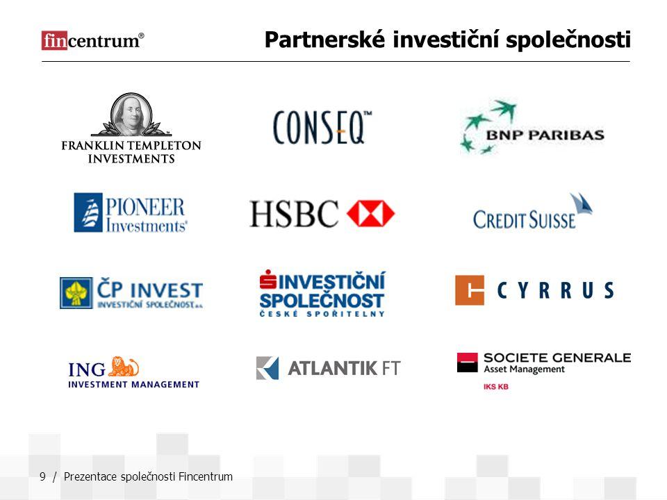 9 / Prezentace společnosti Fincentrum Partnerské investiční společnosti