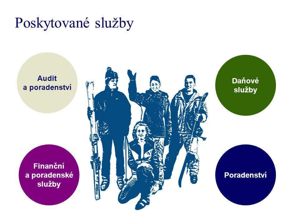 Poskytované služby Audit a poradenství Daňové služby Finanční a poradenské služby Poradenství