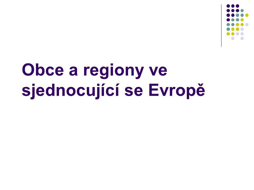 Obce a regiony ve sjednocující se Evropě