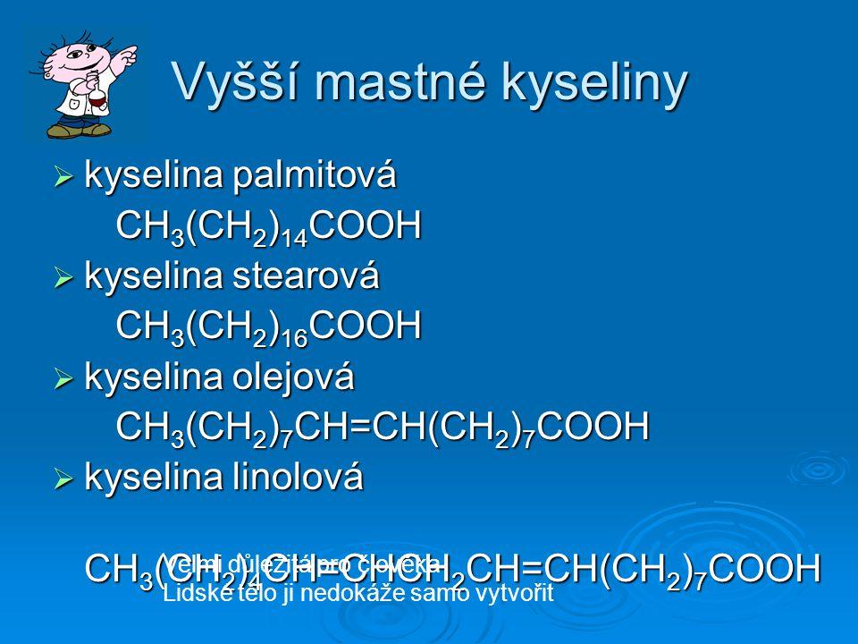 Zastoupení mastných kyselin v tucích slunečnicový olej 1.