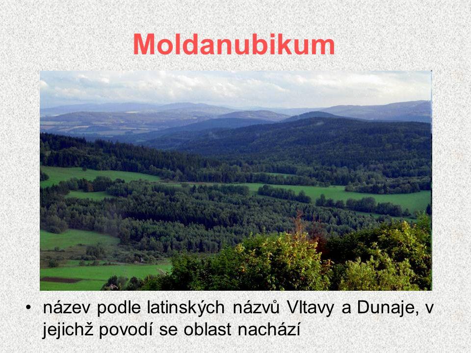 Moldanubikum název podle latinských názvů Vltavy a Dunaje, v jejichž povodí se oblast nachází