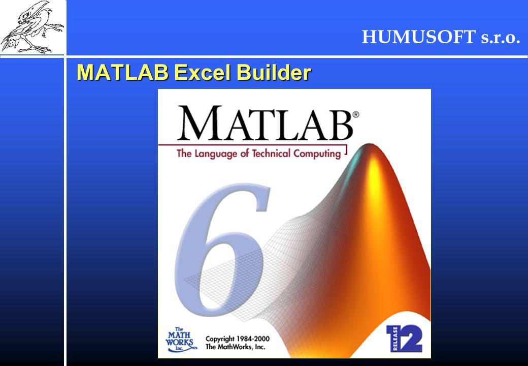 HUMUSOFT s.r.o. MATLAB Excel Builder
