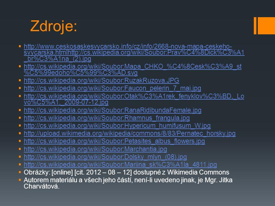 Zdroje:  http://www.ceskosaskesvycarsko.info/cz/info/2668-nova-mapa-ceskeho- svycarska.htmlhttp://cs.wikipedia.org/wiki/Soubor:Prav%C4%8Dick%C3%A1 _b