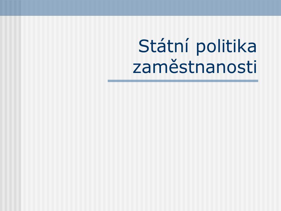 Státní politika zaměstnanosti