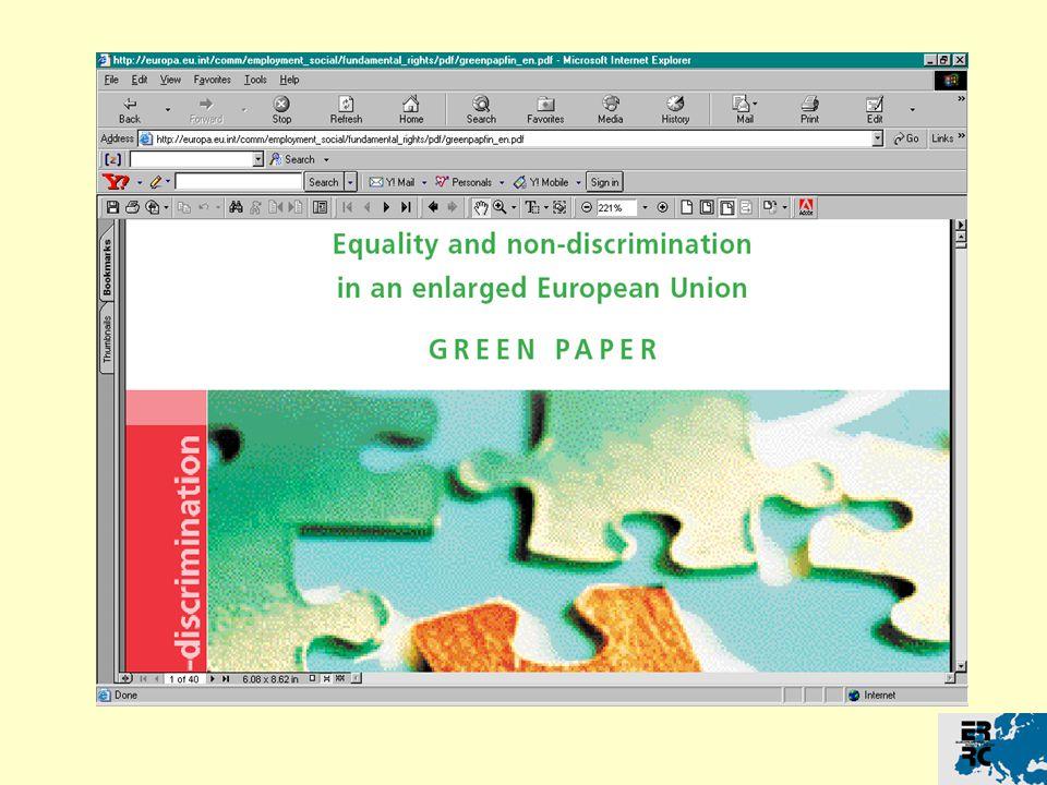 Směrnice o rasové rovnosti Definice Přímá diskriminace: článek 2 odst.