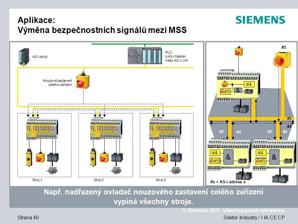 © Siemens 2011.Všechna práva vyhrazena. Děkuji Vám za Váš zájem o naše produkty.