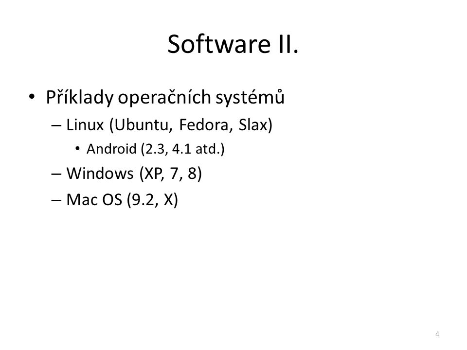 Software II.