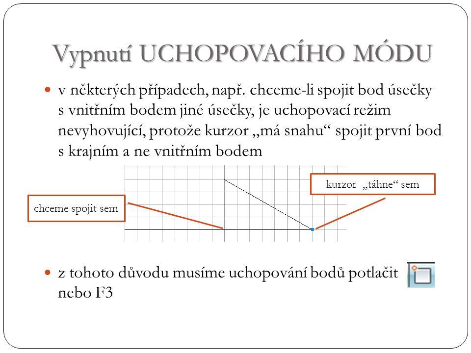 Tloušťka čáry myší označíme čáry, u kterých chceme změnit tloušťku a vybereme vhodnou velikost nastavíme-li určitou tloušťku čáry, další nakreslené čáry mají tuto tloušťku na aktuálním výkresu vidíme všechny čáry stejně tlusté, pro zobrazení tloušťky klikneme na ikonu