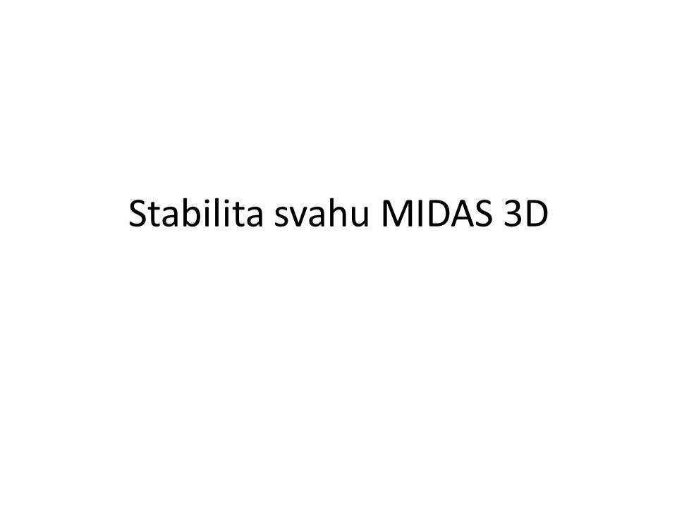 Stabilita svahu MIDAS 3D