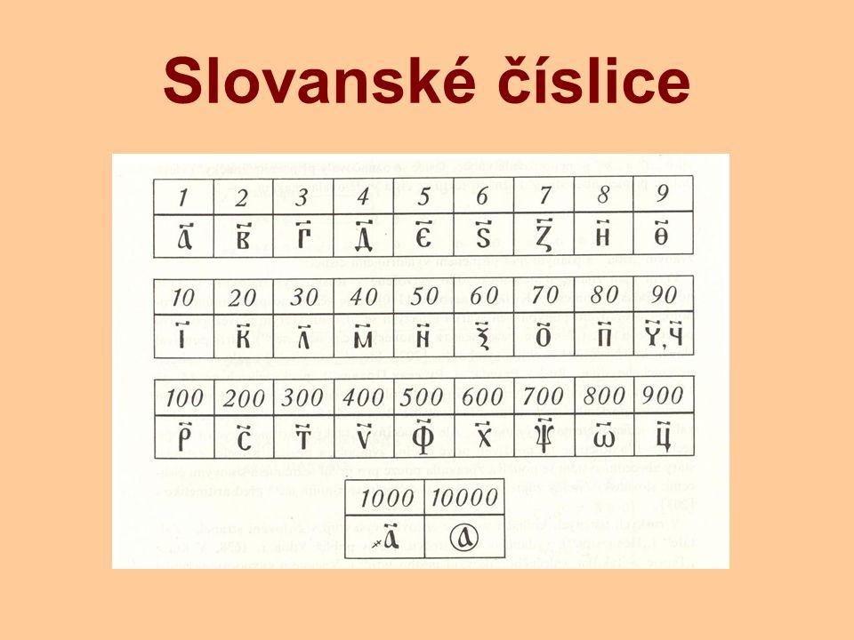 Slovanské číslice
