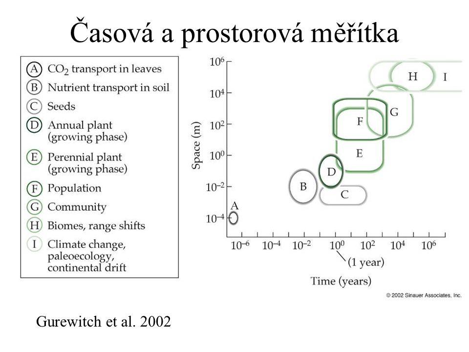 Časová a prostorová měřítka Gurewitch et al. 2002