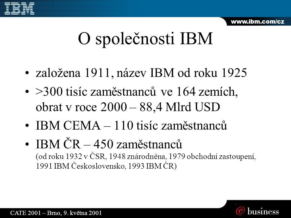 www.ibm.com/cz CATE 2001 – Brno, 9.