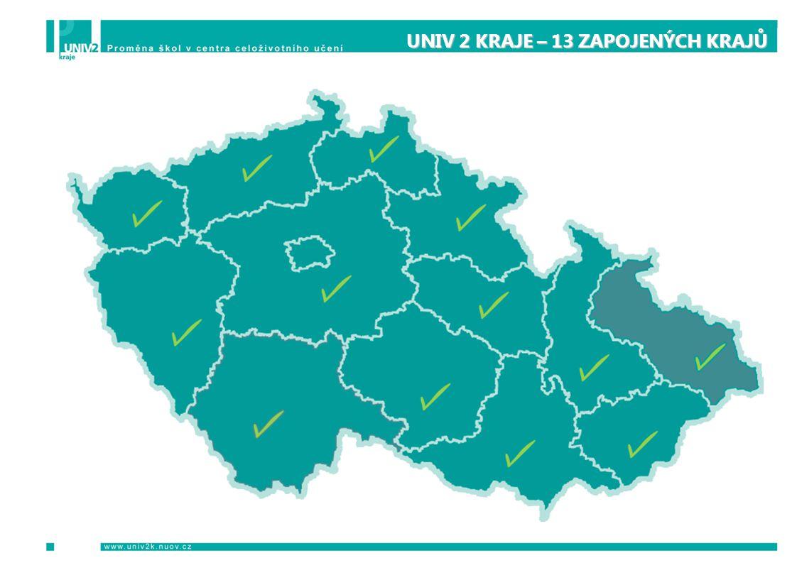 UNIV 2 KRAJE – 13 ZAPOJENÝCH KRAJŮ UNIV 2 KRAJE – 13 ZAPOJENÝCH KRAJŮ mapa