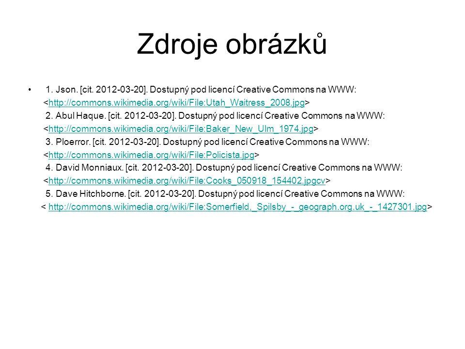 Zdroje obrázků 1. Json. [cit. 2012-03-20].