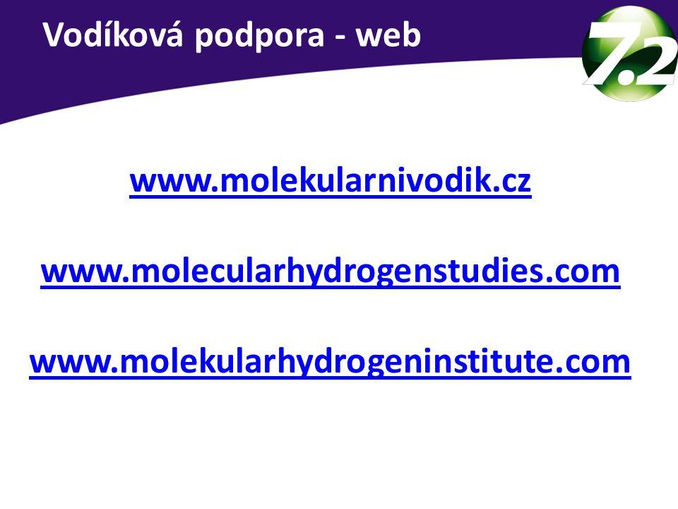 www.molekularnivodik.cz www.molecularhydrogenstudies.com www.molekularhydrogeninstitute.com Vodíková podpora - web