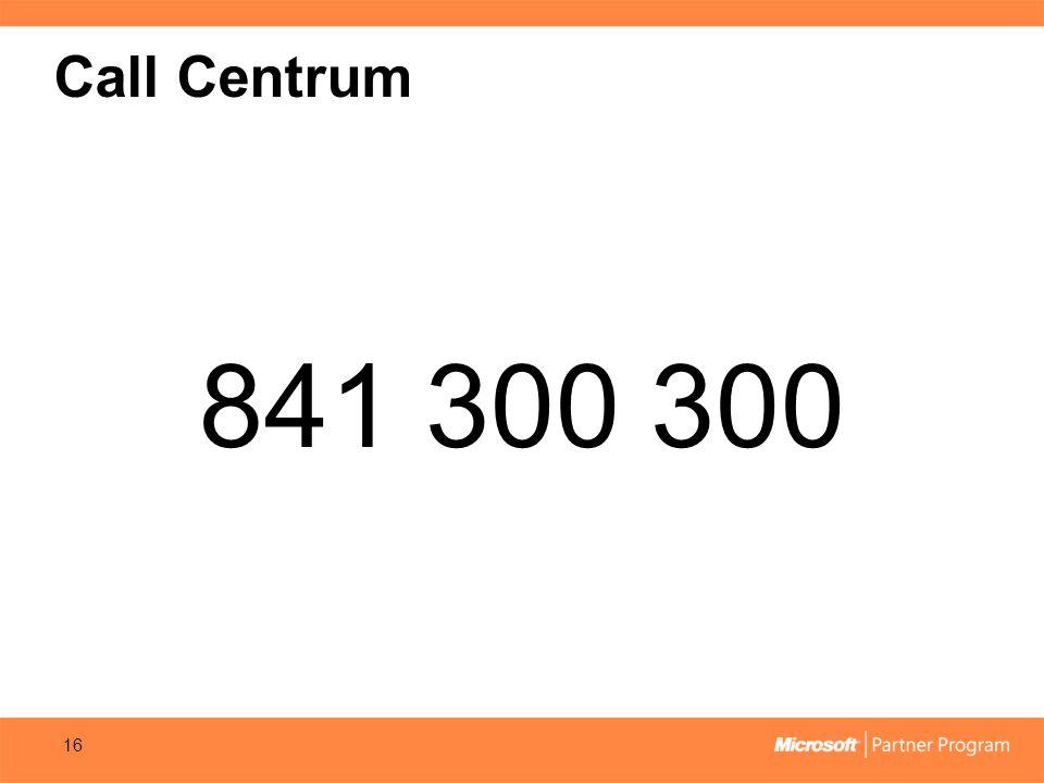 Call Centrum 841 300 300 16