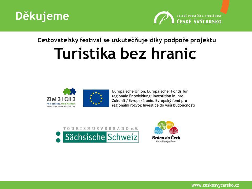Děkujeme Cestovatelský festival se uskutečňuje díky podpoře projektu Turistika bez hranic Semily