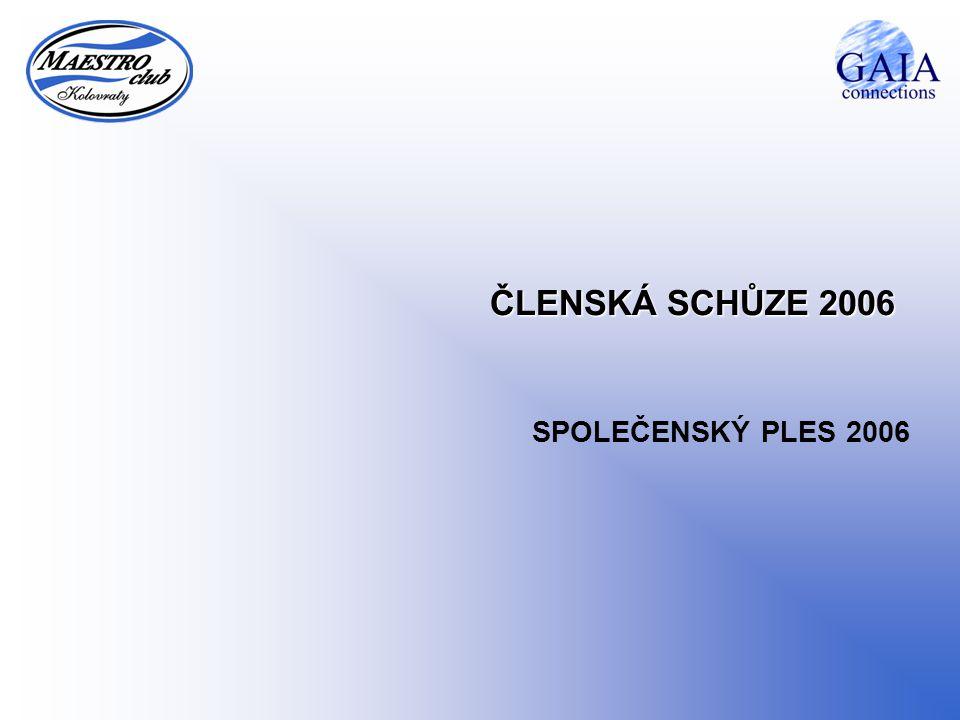 ČLENSKÁ SCHŮZE 2006 SPOLEČENSKÝ PLES 2006