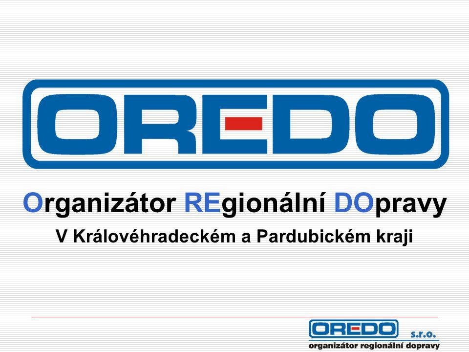 Hlavní úkoly společnosti OREDO  Organizace autobusové a drážní dopravy  Analýza autobusové a drážní dopravy  Optimalizace dopravní obslužnosti  Integrace veřejné dopravy  Dopravní poradenství  Komunikace se zástupci měst a obcí (řešení připomínek)  Propagace veřejné dopravy