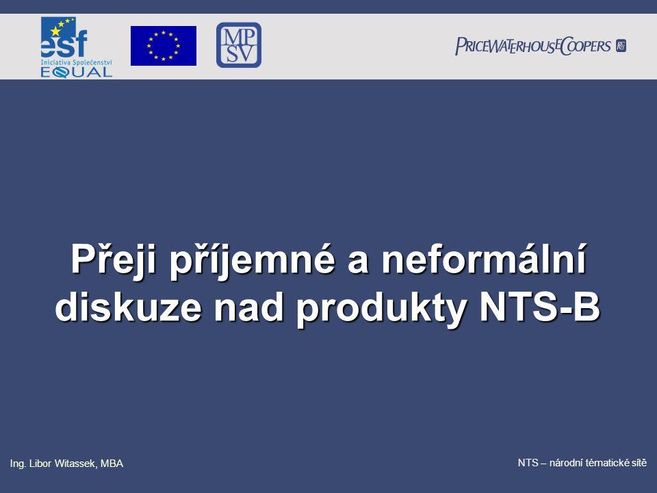 PricewaterhouseCoopers Date NTS – národní tématické sítě Ing. Libor Witassek, MBA Přeji příjemné a neformální diskuze nad produkty NTS-B