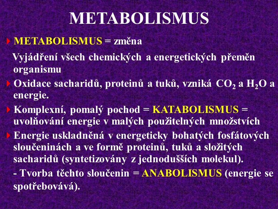Lidský organismus má k dispozici relativně velké množství energie: Zásobní cukr - glykogen (muž o hmotnosti 70 kg má asi 500 g glykogenu, z toho 400 g ve svalech a 100 g v játrech – poskytuje energii asi 2500 kcal).
