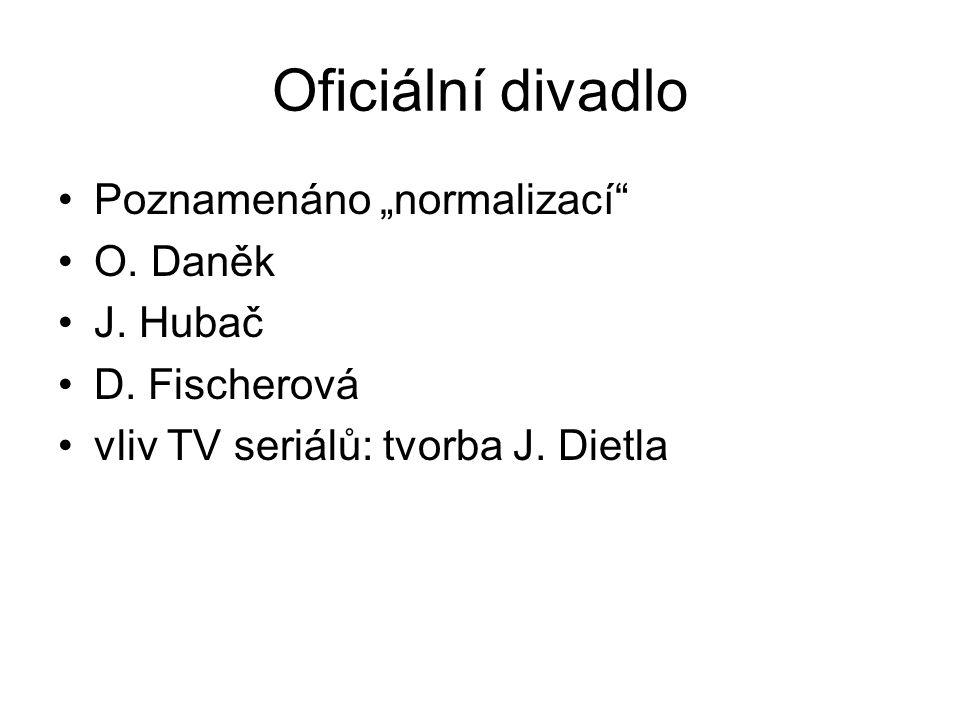 """Oficiální divadlo Poznamenáno """"normalizací O.Daněk J."""