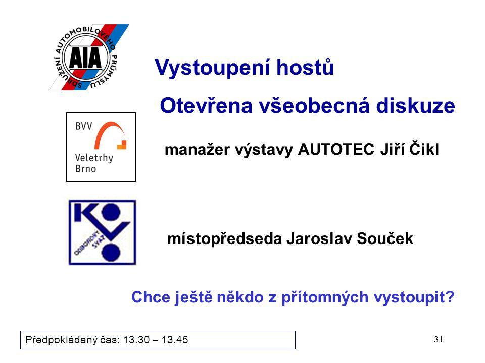 30 Bod programu zasedání: Předpokládaný čas: 13.30 – 13.45 9. Informační blok 9.1 Informace sekretariátu 9.1 Informace sekretariátu 9.2 Informace výro