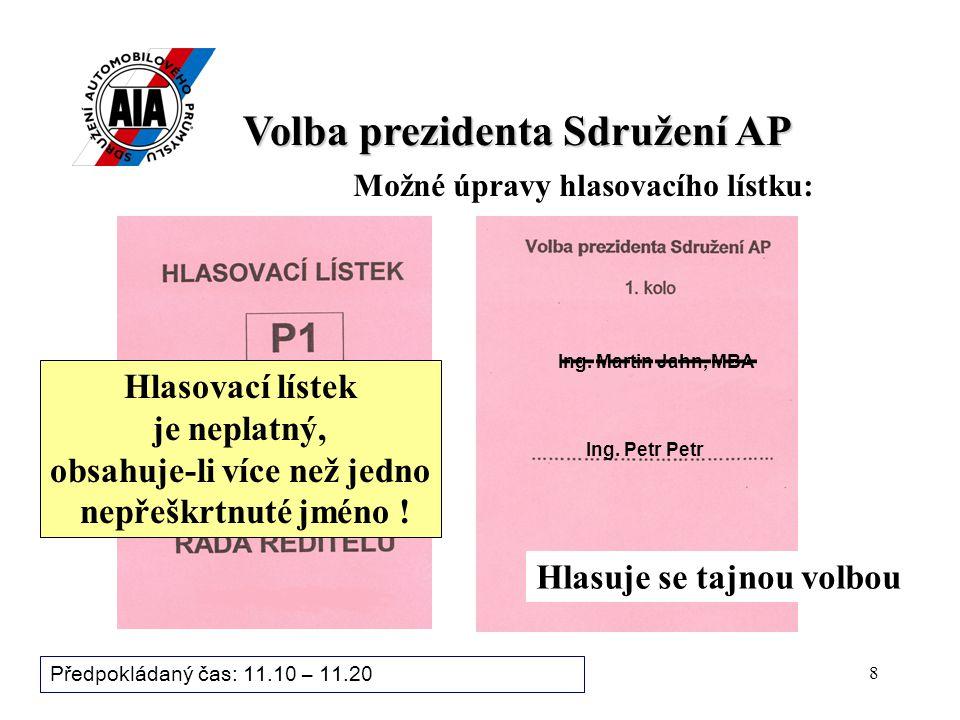 """7 Jsou připomínky k """"Volebnímu řádu ."""