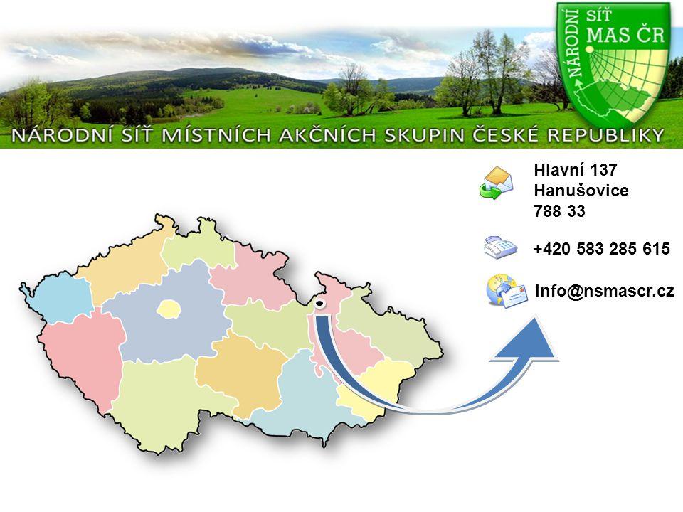 Pár číselných údajů závěrem v rámci celé ČR působí 151 Místních akčních skupin 125 MAS je členem Národní sítě v NS MAS ČR je 4 437 obcí a měst, tj.