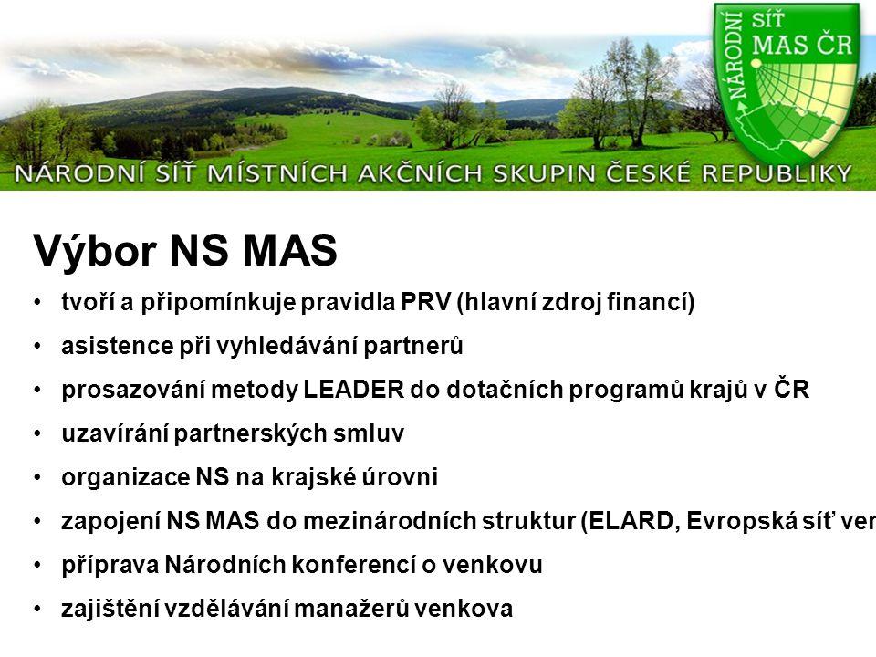 Výbor NS MAS tvoří a připomínkuje pravidla PRV (hlavní zdroj financí) asistence při vyhledávání partnerů prosazování metody LEADER do dotačních progra