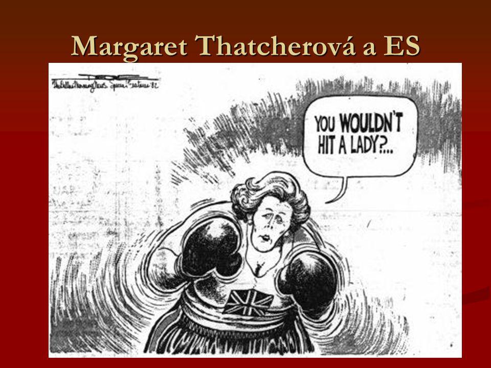 1974 - 1990 Existence silných euroskeptických platforem v obou relevantních stranách Existence silných euroskeptických platforem v obou relevantních stranách Porážka skeptiků v referendu v červnu 1975 Porážka skeptiků v referendu v červnu 1975 Pragmatický postoj vlády Margaret Thatcherové Pragmatický postoj vlády Margaret Thatcherové V závěru 80.