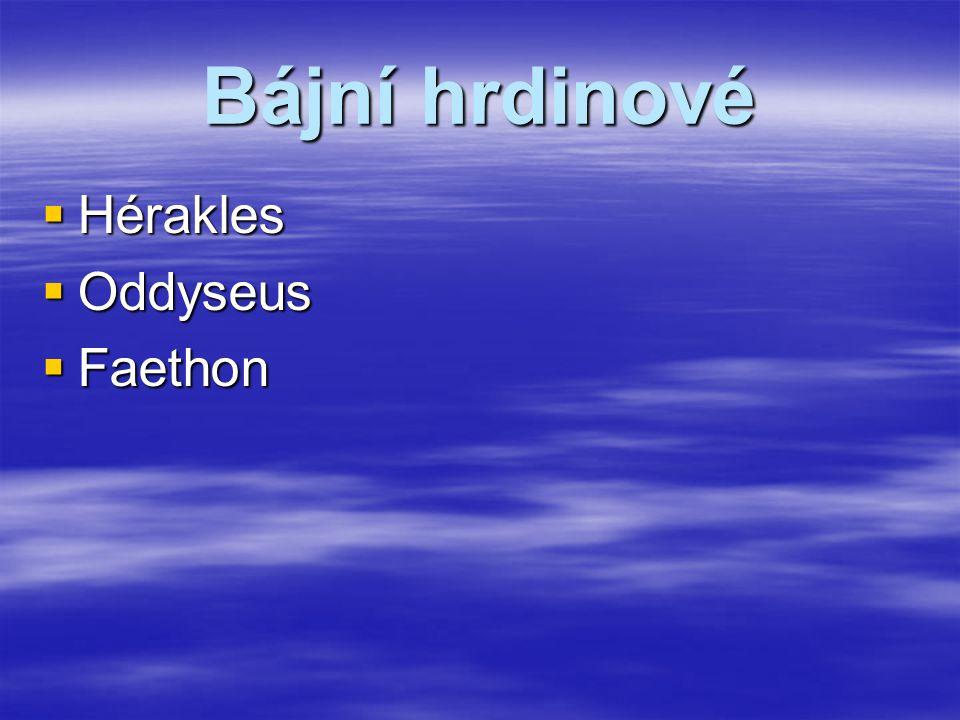 Obrázky  Zde si můžete prohlédnout obrázky soch, reliéfů a maleb řeckých bohů, jež jsou vypsáni na stránce s názvem bohové.